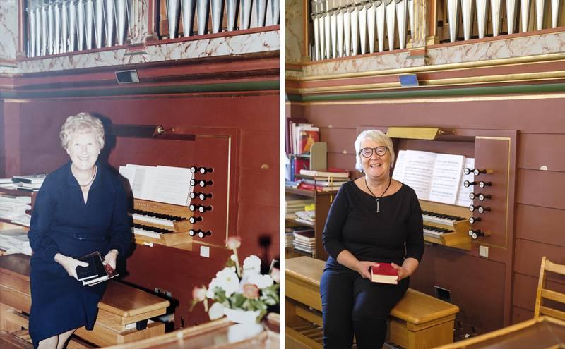 Inger Johanne Orefellen pensjonerer seg etter 32 år som kantor i Rygge kirke. Hennes mor Marit Svendsen Orefellen var også kantor i Rygge kirke.