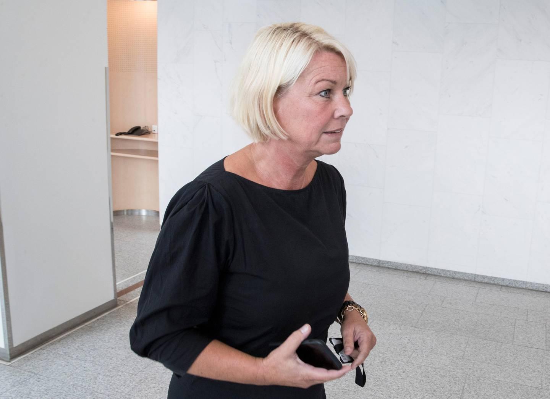 Oslo  20180820. Kommunalminister Monica Mæland vil ikke gripe inn i sammenslåingsprosessen av Troms og Finnmark, og vil vente på Stortingets behandling.  Foto: Vidar Ruud / NTB scanpix