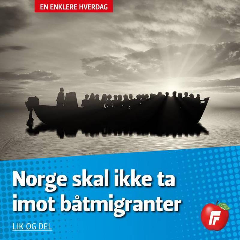 Denne meldingen la Sylvi Listhaug (Frp) ut på egen Facebook-side torsdag 29. august.