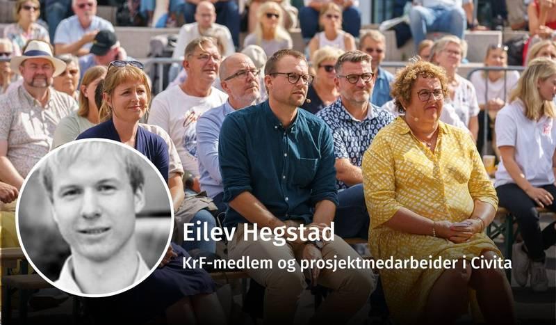 Eilev Hegstad, KrF, debatt