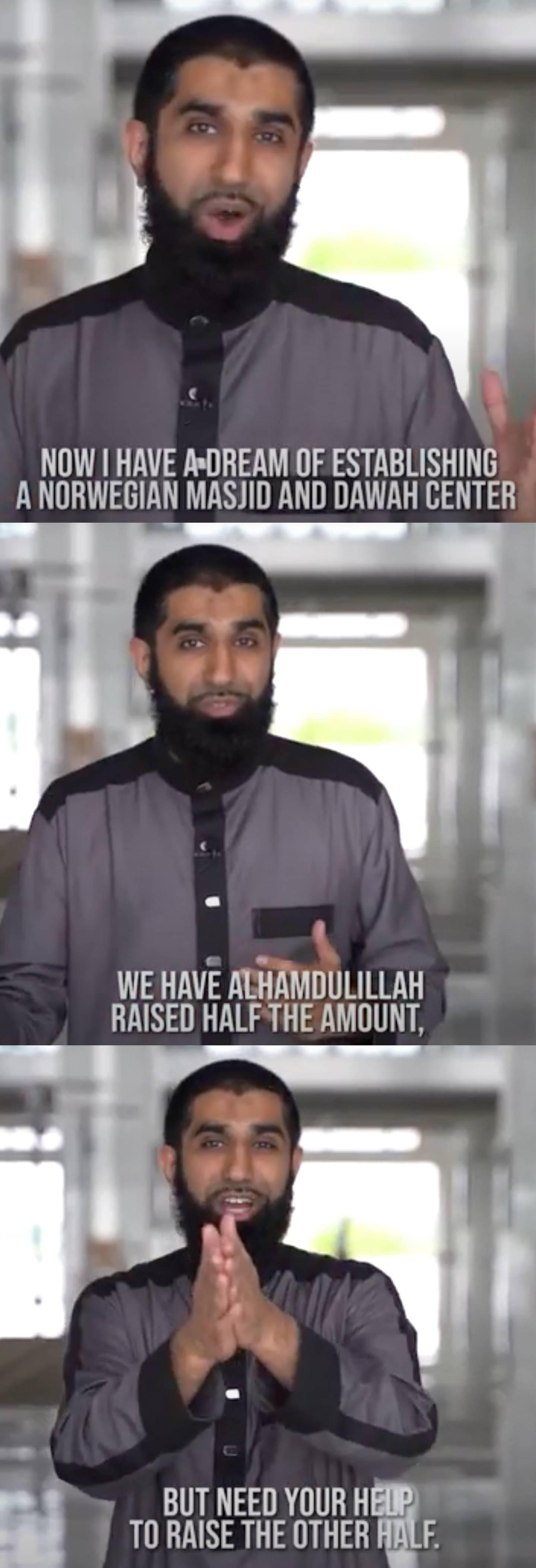 FRONTET: Fahad Qureshi har frontet innsamling til det som overfor givere er markedsført som en moské og forkynnelsessenter i Norge.