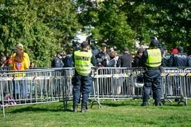 Sju pågrepet etter Sian-demonstrasjon