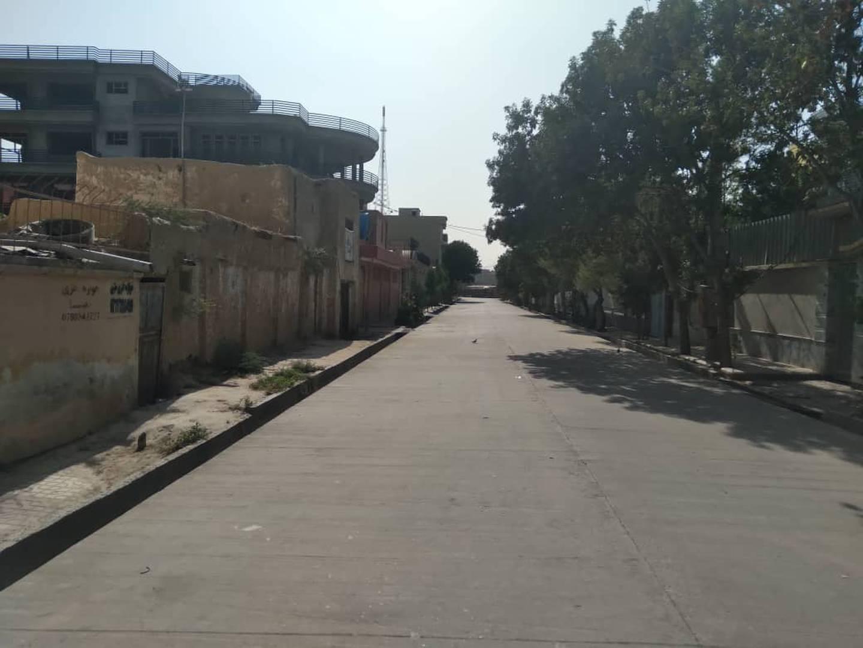 Tomme gater i Mazar-e-Sharif, Afghanistan