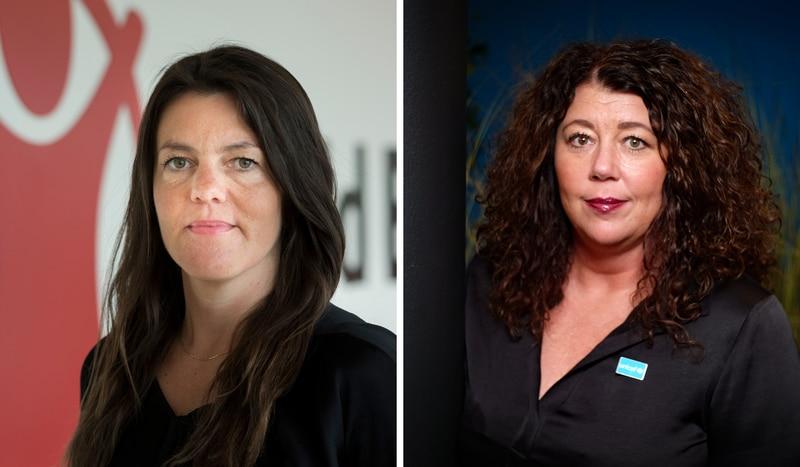 Gunvor Knag Fylkesnes i Redd Barna og Kristin Oudmeyer i UNICEF Norge. Foto: Redd Barna/Unicef