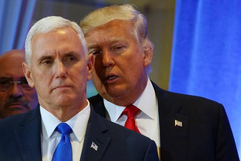 I dag flytter Donald Trump inn i Det hvite hus. Med seg som visepresident får han den politisk langt mer politisk erfarne Mike Pence (til venstre).