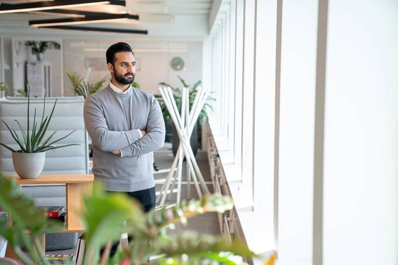 Sofian Mehmood, leder for finans og økonomi og presseansvarlig i det norske eiendomsselskapet Global Housing AS (GH).