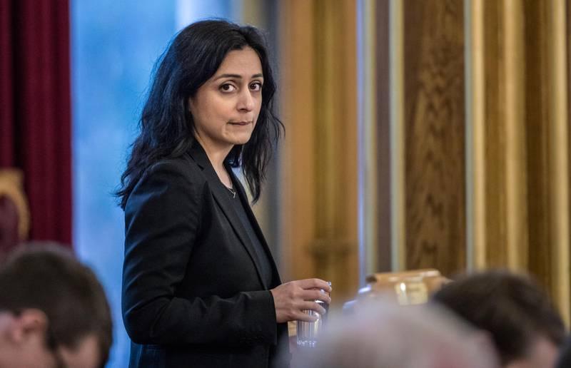 Oslo 20200129.  Hadia Tajik (Ap) under stortingets  spørretime onsdag. Foto: Ole Berg-Rusten / NTB scanpix