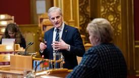Ap-Støre kalte KrF i regjering å «gå i fortapelsen» – tøffe oppgjør i Stortinget