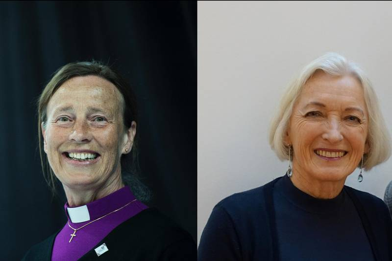 Stavanger biskop, Anne Lise Ådnøy (t.v), og leder i Stavanger bispedømmeråd, Liv Heidrun Heskestad, peker på hvordan kirka kan styrke samarbeidet med frivillige medarbeidere.