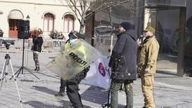 Steinkasting og bråk under Sian-demonstrasjon i Drammen