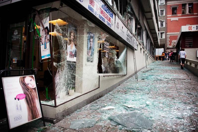 Bombeangrepet i regjeringskvartalet 22. juli 2011.