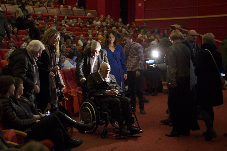 """DOKUMENTAR: Fra premieren på dokumentarfilmen """"Mannen fra Snåsa"""" om Joralf Gjerstad. Colosseum Kino."""