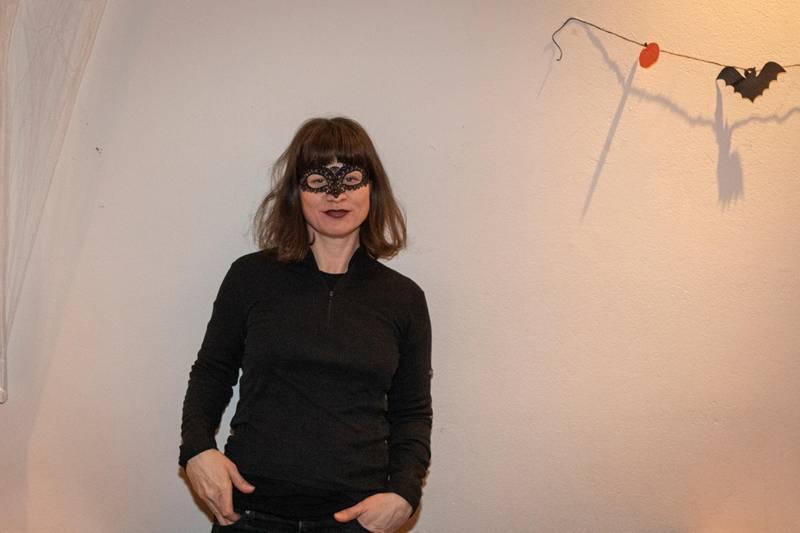 Byråd Rina Mariann Hansen var på halloween-feiring i Gamle Aker kirke sammen med barna sine.