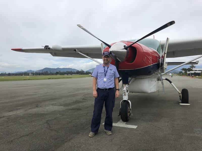 Jan Ivar og Linda Andresen, Mission Aviation Fellowship (MAF). Pilot, Papa Ny-Guinea
