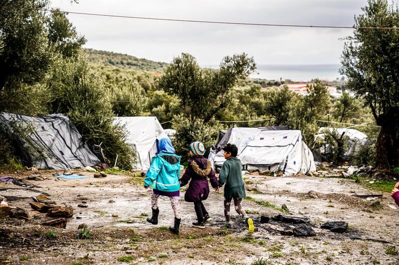Moria flyktningeleir på Lesvos, Hellas.