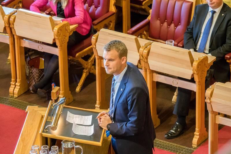 Stortinget. Statsbudsjettet 2018. Kjell Ingolf Ropstad.