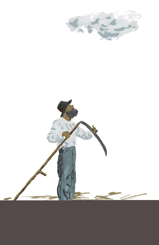 «Eg skal vera slåttekar i himmelen også» bryter Nesje ut helt på tampen av stykket. «Da er det ingen fare for at han Eilert ikkje skal kjenne meg igjen!»