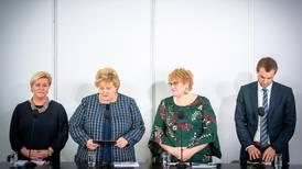 Blå smell ryster Solberg-styret