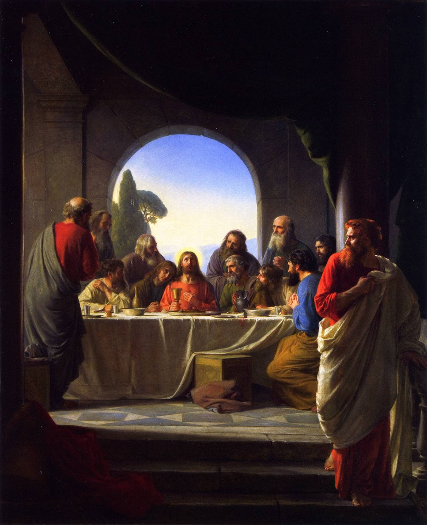 «Det siste måltid» av Carl Bloch (1834-1890)