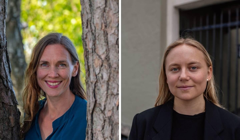 Hildegunn Marie Tønnessen Seip og Oda Sofie Pettersen, Stortingskandidater til Stortinget, Miljøpartiet de Grønne Agder