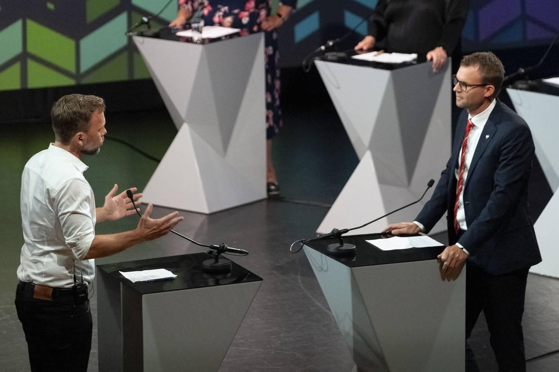 kveldens partilederdebatt under