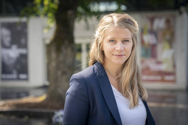 Barne- og familieminister Ida Lindtveit Røse (Krf) i Tøyenparken. Tøyen Sportsklubb.