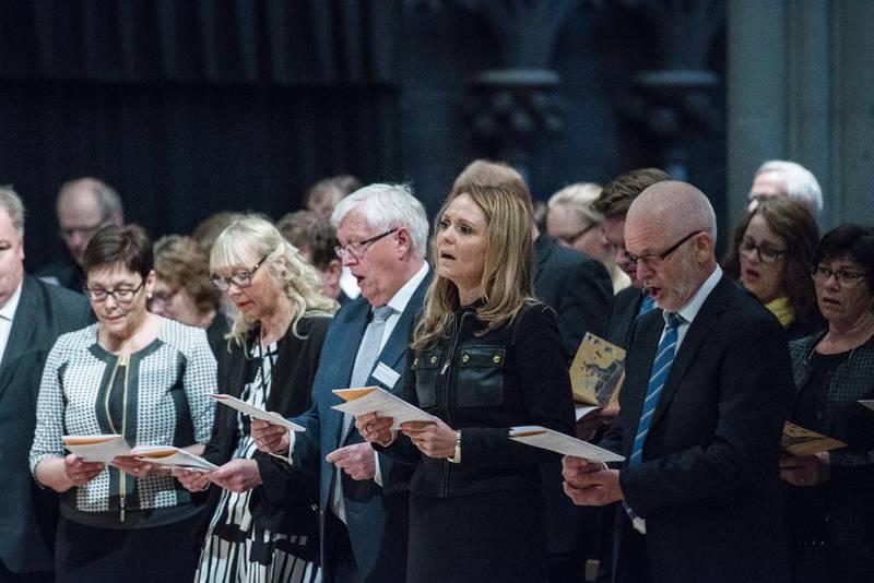 – Den norske kirke bærer preg av en nøktern, pietistisk kultur, sier kirkehistoriker Vidar Leif Haanes. Bildet er fra Kirkemøtet i Trondheim nylig.