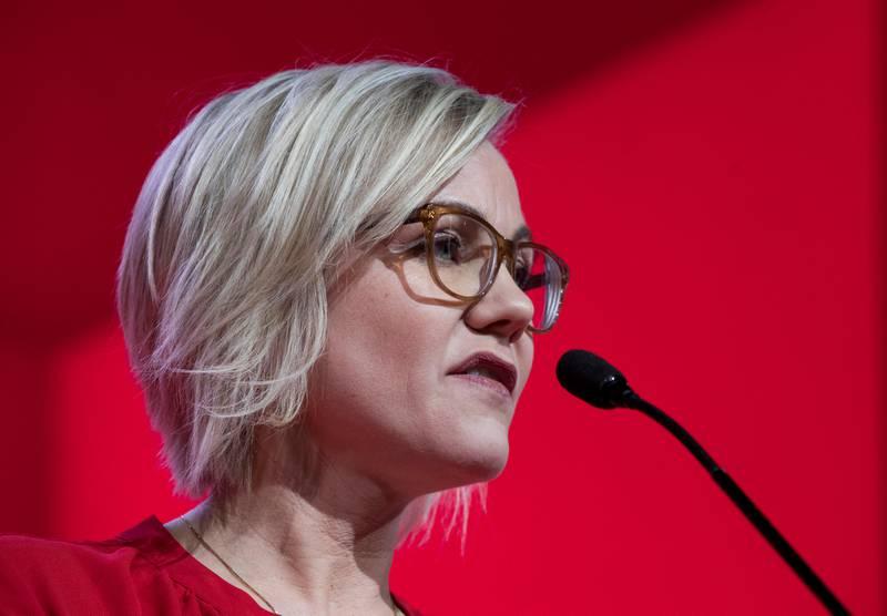 Oslo  20190406. Ingvild Kjerkol under landsmøtet til Arbeiderpartiet i Folkets Hus i Oslo.  Foto: Terje Pedersen / NTB scanpix
