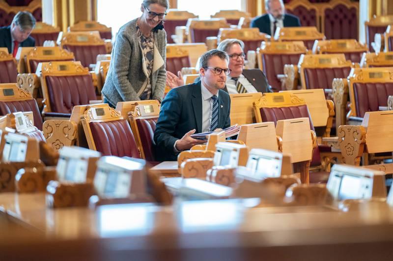 Stortingsmøtet 14. april. Kjell Ingolf Ropstad
