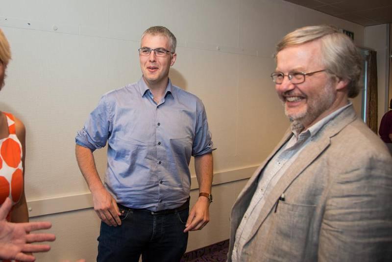 VALGT: Harald Hegstad (t.h.) fra Oslo bispedømme blir nestleder i Kirkerådet de kommende to årene. Leif Christian Andersen fra Stavanger bispedømme ble valgt inn i arbeidsutvalget.