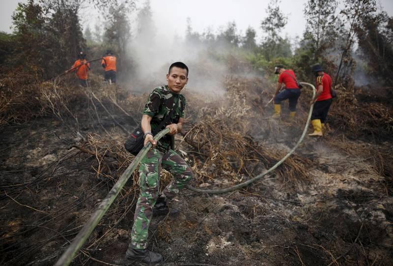 Værfenomenet El Niño – «Jesusbarnet» – har forsterket omfanget av skogbranner i Indonesia. Årets utgave av El Niño ser ut til å bli den kraftigste på et par tiår, med dramatiske konsekvenser som tørke og oversvømmelser. Foto: Darren Whiteside, Reuters/NTB scanpix