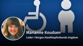 Funksjonshemmede må likestilles i arbeidslivet