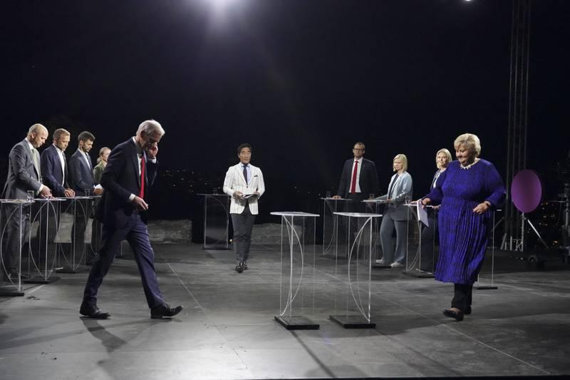 Partilederne møttes til debatt i Arendal.