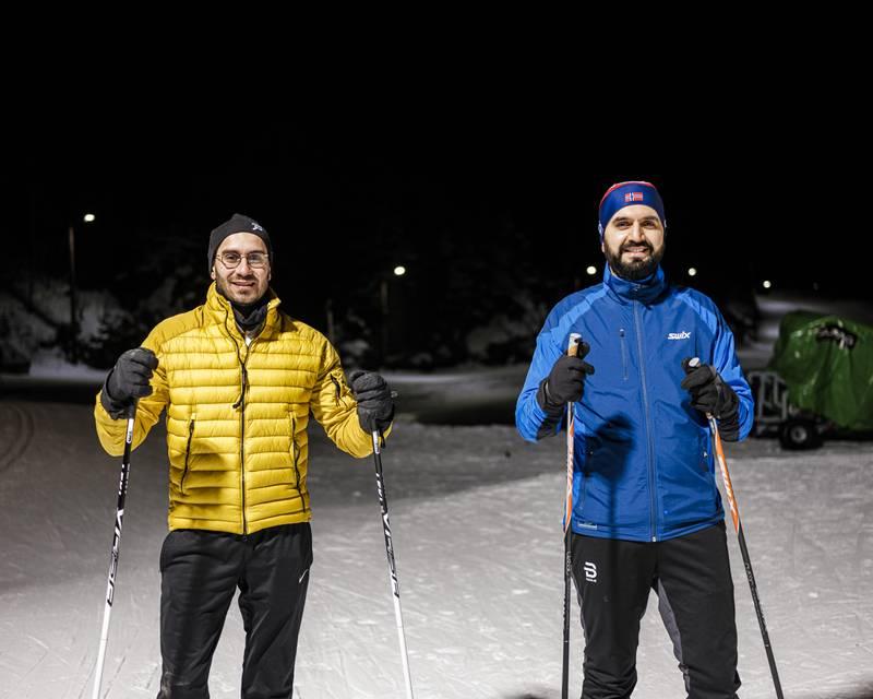 Mohammad Usman Rana og Farooq Ansari har startet den muslimske tenketanken Wasila. De har gjerne diskutert tankesmien på skiturer i Oslomarka. Her fra Linderudkollen.