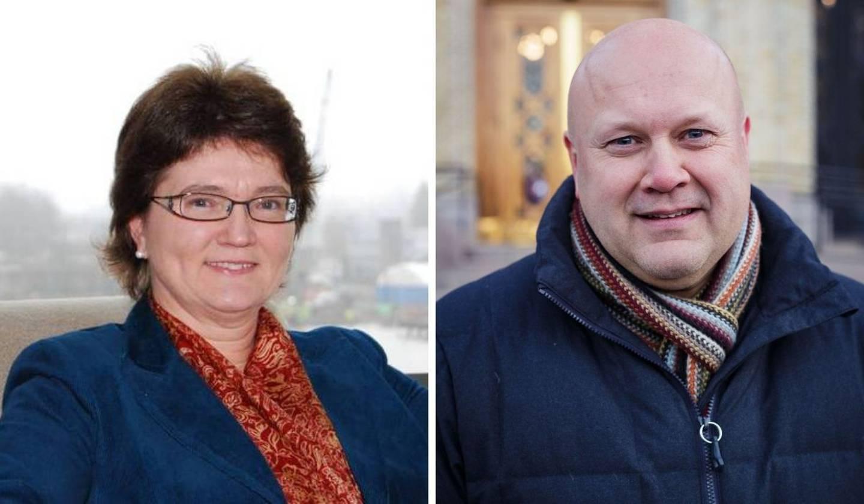 Berit Hagen Agøy, styreleder i NKR og Erhard Hermansen, generalsekretær i NKR