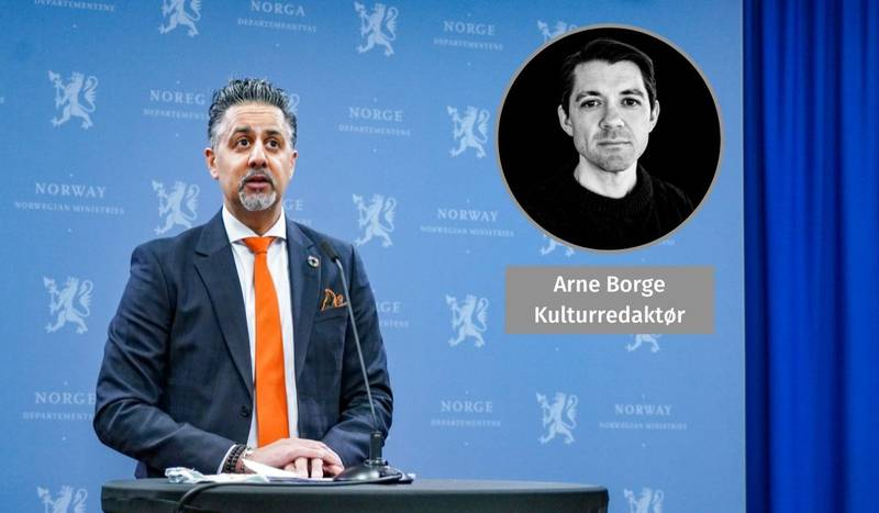 KULTURMINISTER: Selv om kulturminister Abid Raja har vært flink til å skaffe penger til den kriserammede sektoren, kan man spørre seg hvordan det hadde slått ut for kulturlivet om ikke Trine Skei Grande hadde blitt sittende ved posten da pandemien kom til Norge, skriver kulturredaktør Arne Borge.