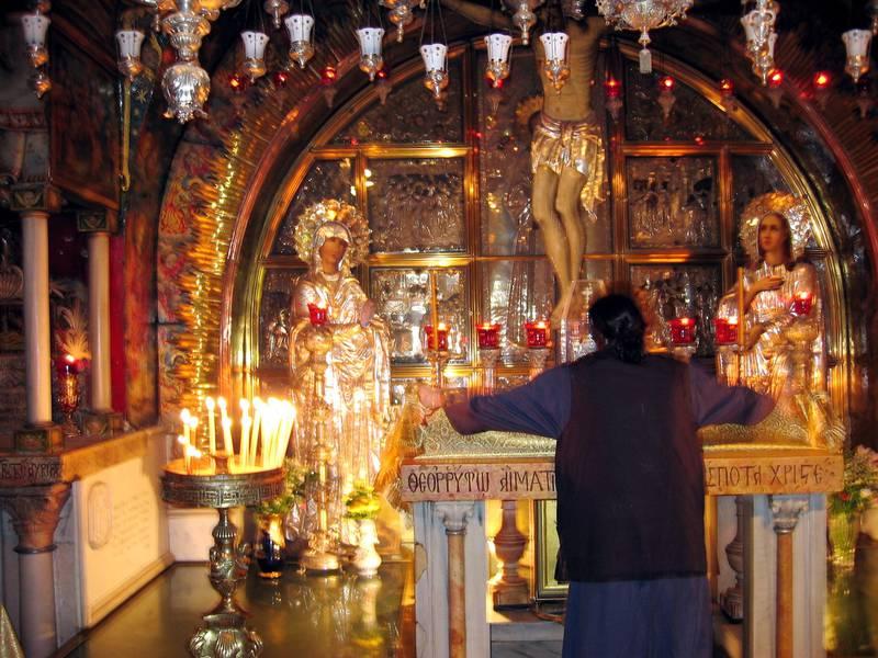 ISRAEL , Jerusalem 20040823. Den hellige gravs kirke inne i Jerusalem. Foto: Gorm Kallestad / NTB
