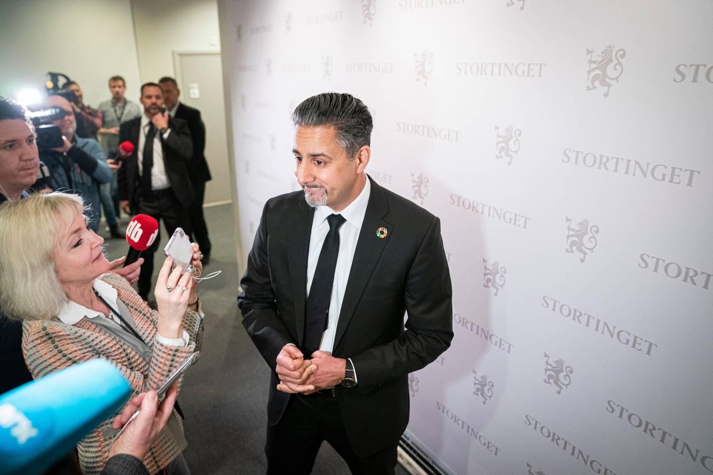 Gruppemøte i Venstre etter at Trine Skei Grande varslet sin avgang som partileder.Abid Raja